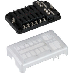 Sea-Dog Blade Style LED Indicator Fuse Block w\/Negative Bus Bar - 12 Circuit [445188-1]