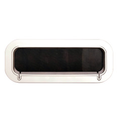"Beckson Drain Port - 4"" x 14"" x 2""-Depth - White\/Clear [PO414DWC-20]"