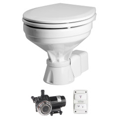 Johnson Pump AquaT Toilet Electric Comfort - 12V w\/Pump [80-47232-01]