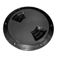 "Sea-Dog Quarter-Turn Textured Deck Plate w\/Internal Collar - Black - 8"" [336387-1]"