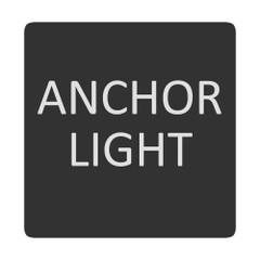 Blue Sea 6520-0035 Square Format Anchor Light Label [6520-0035]