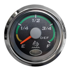 "Faria 2"" Fuel Level Gauge Euro Black w\/Stainless Steel Bezel [960967]"