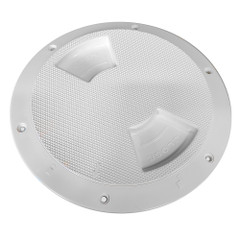 "Sea-Dog Quarter-Turn Textured Deck Plate w\/Internal Collar - White - 8"" [336382-1]"