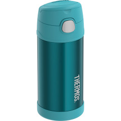 Thermos FUNtainer Stainless Steel Insulated Teal Water Bottle w\/Straw - 12oz [F7019TL6]