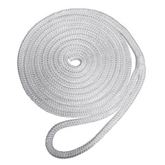 "Robline Premium Nylon Double Braid Dock Line - 3\/8"" x 15 - White [7181922]"