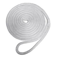 "Robline Premium Nylon Double Braid Dock Line - 1\/2"" x 35 - White [7181938]"