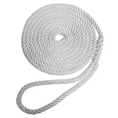 """Robline Premium Nylon 3 Strand Dock Line - 3\/8"""" x 20 - White [7181960]"""