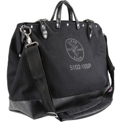 "Klein Tools Deluxe Black Canvas Bag - 18"" [5102-18SPBLK]"