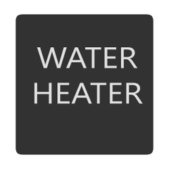 Blue Sea 6520-0438 Square Format Water Heater Label [6520-0438]