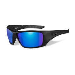 Wiley X Nash Sunglasses - Polarized Blue Mirror Lens - Matte Black Frame [ACNAS09]