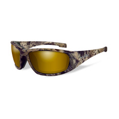Wiley X Boss Sunglasses - Polarized Venice Gold Mirror Lens - Kryptek Highlander Frame [CCBOS12]