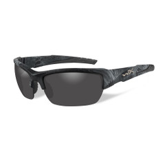 Wiley X Valor Sunglasses - Polarized Smoke Grey Lens - Kryptek Typhon Frame [CHVAL12]