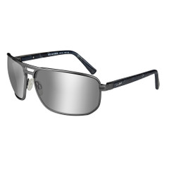 Wiley X Hayden Sunglasses - Polarized Silver Flash Lens - Grey Frame [ACHAY06]