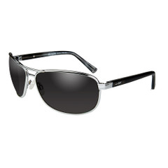 Wiley X Klein Sunglasses - Smoke Grey Lens - Silver Frame [ACKLE02]
