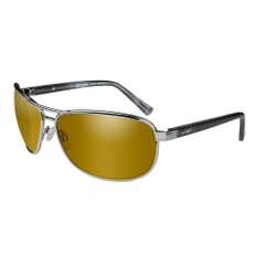 Wiley X Klein Sunglasses - Polarized Venice Gold Mirror Amber Lens - Matte Gunmetal Frame [ACKLE04]