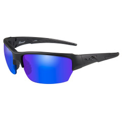 Wiley X Saint Sunglasses - Polarized Blue Mirror Lens - Matte Black Frame [CHSAI29]