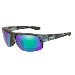 Wiley X Compass Sunglasses - Polarized Emerald Mirror Lens - Kryptek Neptune Frame [CCCMP07]