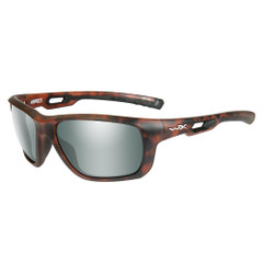 Wiley X Aspect Sunglasses - Polarized Green Platinum Flash Lens - Matte Demi Frame [ACASP06]