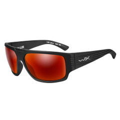 Wiley X Vallus Sunglasses - Polarized Crimson Mirror Lens - Matte Black Frame [ACVLS05]