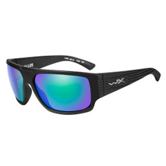 Wiley X Vallus Sunglasses - Polarized Emerald Mirror Lens - Matte Black Frame [ACVLS07]