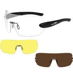 Wiley X Detection Sunglasses - Clear, Yellow  Copper Lens - Matte Black Frame [1203]