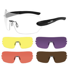 Wiley X Detection Sunglasses - Clear, Yellow, Orange, Purple  Copper Lens - Matte Black Frame [1205]