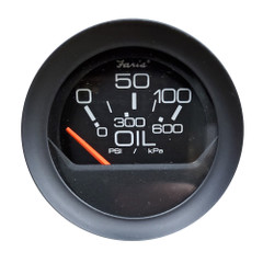 "Faria 2"" Oil Pressure Gauge 0-100 PSI - Black Bezel w\/Orange Pointer [GP0534]"