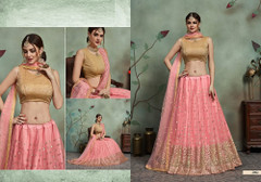 Pink color Soft Net Fabric Embroidered Lehenga Choli