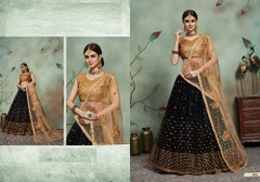 Black color Soft Net Fabric Embroidered Lehenga Choli