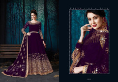 Wine color Full Sleeves Mirror work Floor Length Georgette Fabric Anarkali style Suit