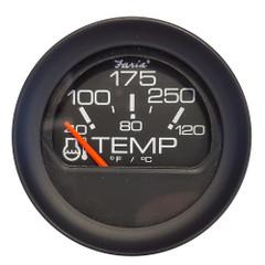 """Faria 2"""" Water Temperature Gauge 100-200F - Black Bezel w\/Orange Pointer [GP0649]"""
