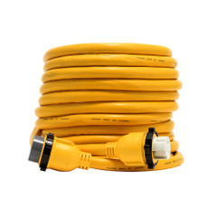 Camco 50 Amp Power Grip Marine Extension Cord - 50 M-Locking\/F-Locking Adapter [55623]