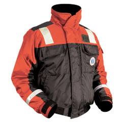 Mustang Classic Bomber Jacket w\/Solas Reflective Tape - XXX-Large - Orange\/Black [MJ6214T1-XXXL-OR]