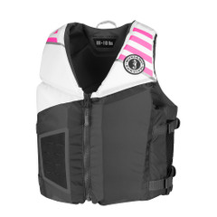 Mustang Rev Young Adult Foam Vest - Gray, White  Pink [MV3600-272]