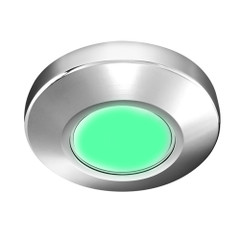 i2Systems Profile P1100 1.5W Surface Mount Light - Green - Chrome Finish [P1100Z-11D]