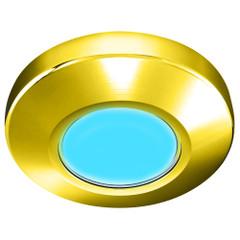 i2Systems Profile P1100 1.5W Surface Mount Light - Blue - Gold Finish [P1100Z-21E]