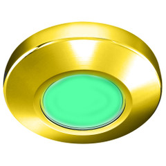i2Systems Profile P1100 1.5W Surface Mount Light - Green - Gold Finish [P1100Z-21D]