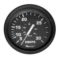 "Faria 4"" Speedometer 30 Knot f\/Mechanical Pitot Tube - Euro Black [SE9659]"