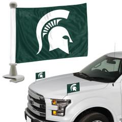 Michigan State Spartans Flag Set 2 Piece Ambassador Style
