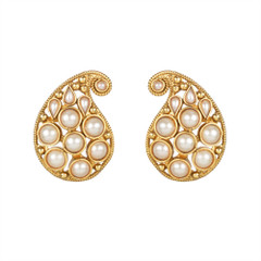 Gold Plated Pair of Earrings