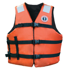 """Mustang Adult Universal Fit Industrial Flotation Vest - 30""""-52"""" Vest - Orange [MV3104T1]"""