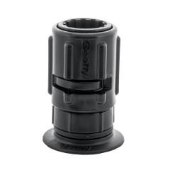 """Scotty 445 Stick-On Mount w\/Gear-Head Adapter - 2"""" Pad [0445-BK]"""