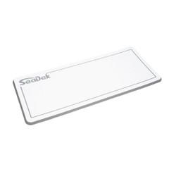 "SeaDek Dual Density Helm Pad - 16"" x 39"" 20mm - Large - White w\/Storm Gray Laser SD Logo [37926-80375]"