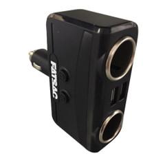 FATSAC Dual Socket 12\/24V w\/Dual USB Ports [S1005]