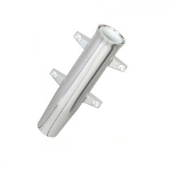 Lees Aluminum Side Mount Rod Holder - Tulip Style - Silver Anodize [RA5000SL]