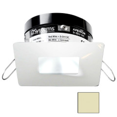 i2Systems Apeiron PRO A503 - 3W Spring Mount Light - Square\/Square - Warm White - White Finish [A503-34CBBR]