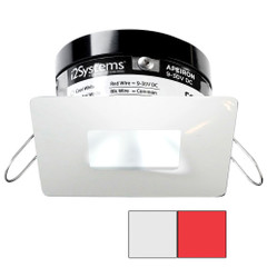 i2Systems Apeiron PRO A503 - 3W Spring Mount Light - Square\/Square - Cool White  Red - White Finish [A503-34AAG-H]