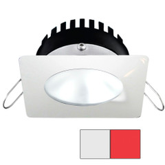 i2Systems Apeiron PRO A506 - 6W Spring Mount Light - Square\/Round - Cool White  Red - White Finish [A506-32AAG-H]