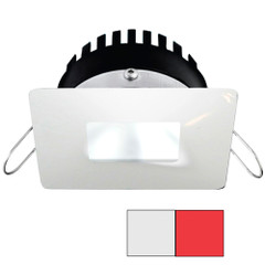 i2Systems Apeiron PRO A506 - 6W Spring Mount Light - Square\/Square - Cool White  Red - White Finish [A506-34AAG-H]
