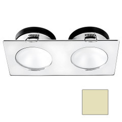 i2Systems Apeiron A1110Z - 4.5W Spring Mount Light - Double Round - Warm White - Chrome Finish [A1110Z-15CAB]